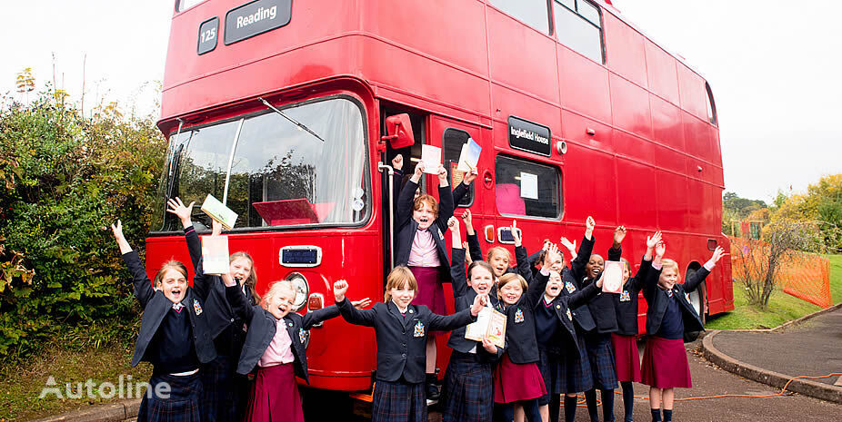 BRITISH BUS mobile EDUCATIONAL traditional & modern London buses available! autobús de dos pisos