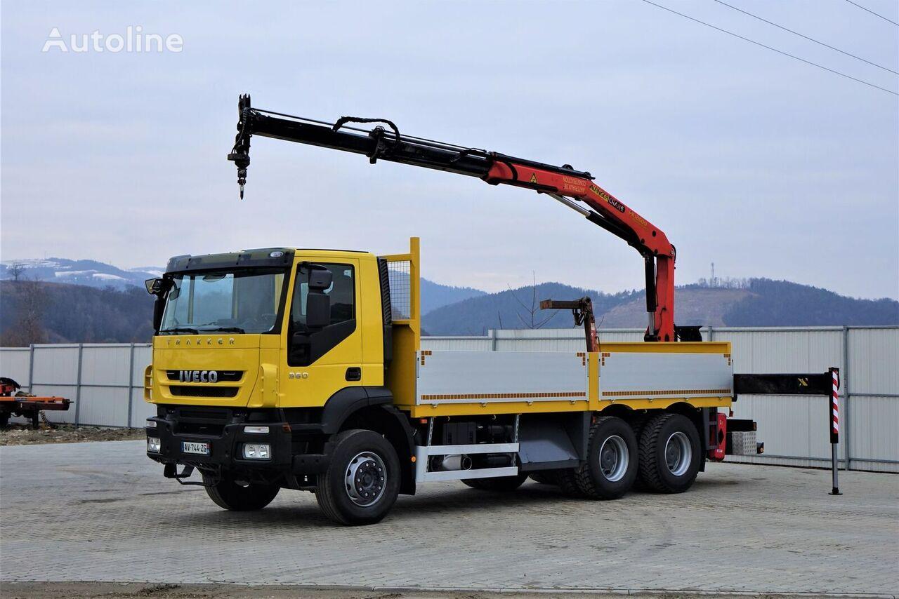 IVECO Trakker 360 * Pritsche 6,10m + KRAN/FUNK * 6x4 camión caja abierta