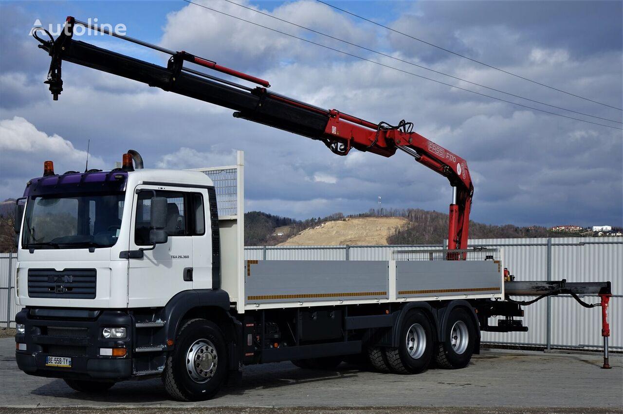 MAN 26.360 Pritsche 7,20m + Kran*6x4*Topzustand! camión caja abierta