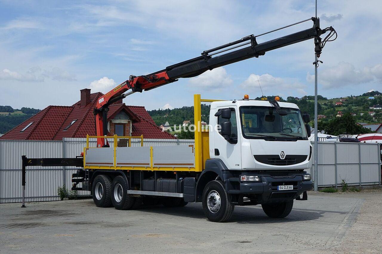 RENAULT Kerax 370 DXI* Pritsche 6,70m+Kran*6x4Topzustand camión caja abierta