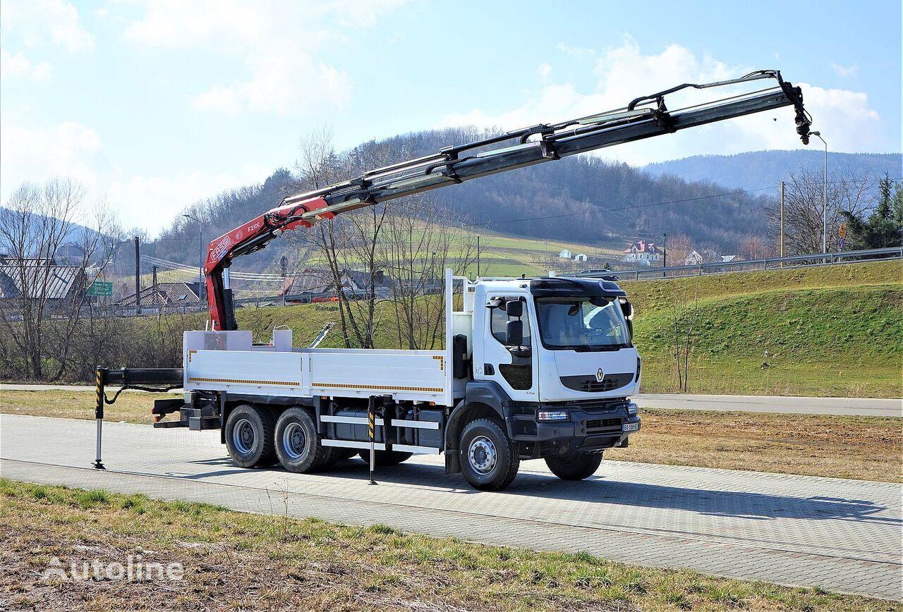 RENAULT Kerax 430 DXI*Pritsche 6,50m + Kran* Topzustand! camión caja abierta