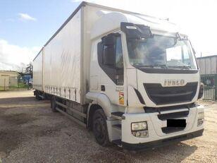IVECO Stralis AT 190 S 36 camión con lona corredera + remolque con lona corredera