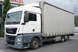 MAN TGX 26.440 XLX , E6 , 6X2 , MEGA , 19 EPAL , RSAS system camión con lona corredera