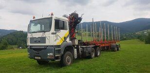 MAN TGA 33.430 6x6 + NACZEPA camión maderero