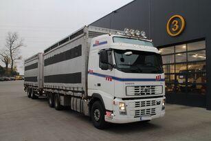 VOLVO FH12.480 CHICKEN TRANSPORTER camión para transporte de ganado + remolque para transporte de ganado
