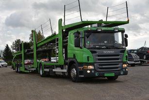 SCANIA P 380 camión portacoches + remolque portacoches