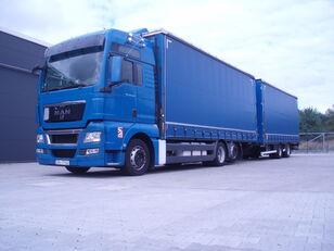 MAN TGX 26.440 camión toldo + remolque toldo