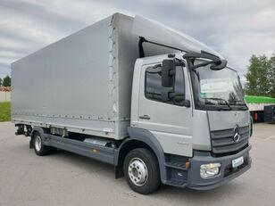 MERCEDES-BENZ 1224 L Atego Pritsche LBW - silber-neutral  1.H camión toldo