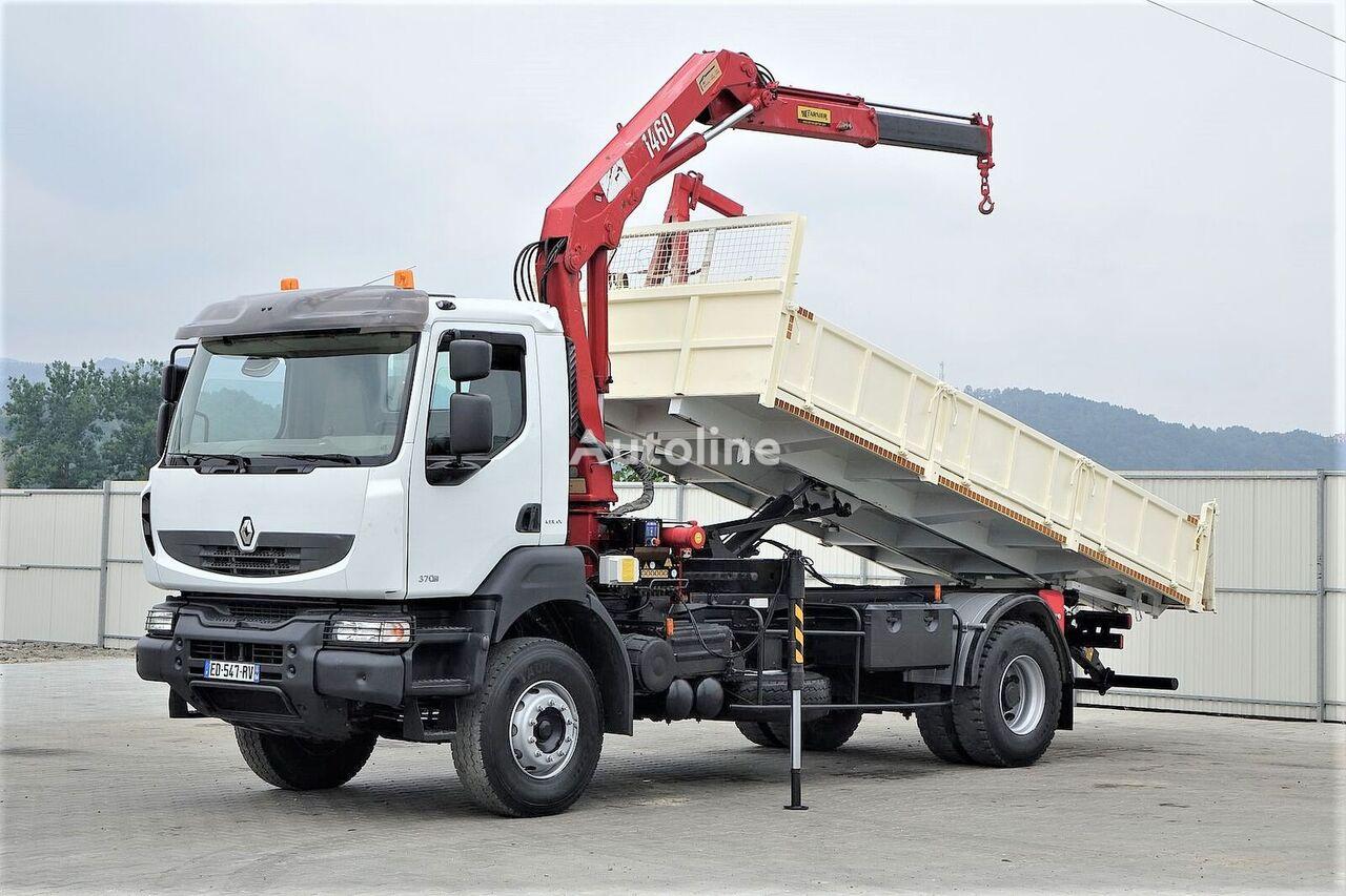RENAULT Kerax 370 DXI* Kipper 5,80 m + Kran Topzustand! camión volquete