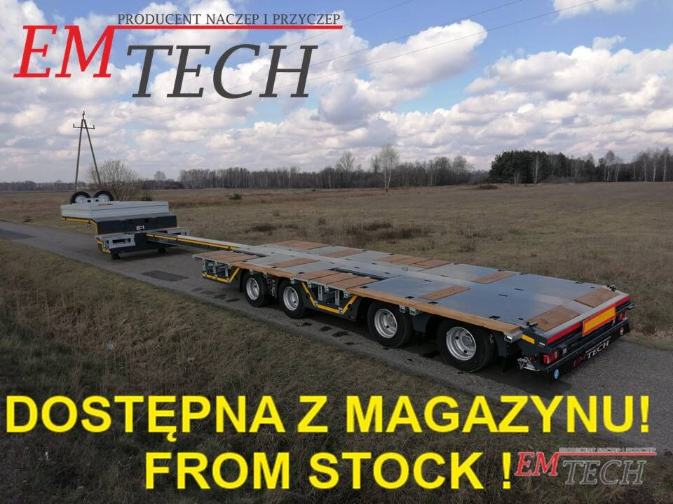 EMTECH Nowa niskopodwoziowa 4.NNZ-1R-2N (2 750 !, NA) - Z MAGAZYNU / ST semirremolque de cama baja nuevo